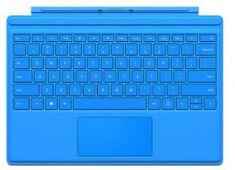 Microsoft tipkovnica Type Cover za MS Surface Pro3 in Pro4, SLO, svetlo modra (QC7-00095)