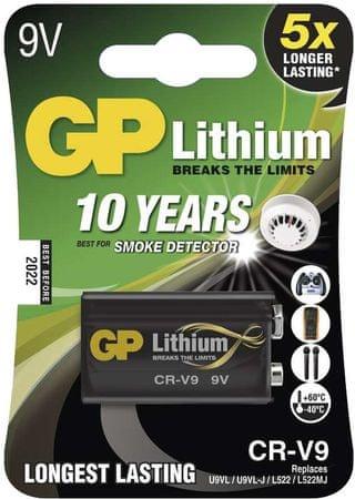 GP Baterija CR-V9, 1 komad