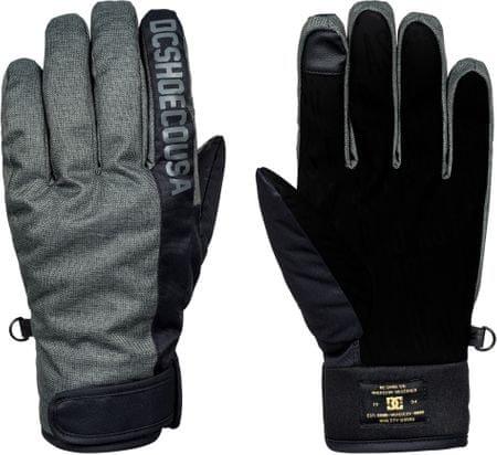 DC moške deskarske rokavice Deadeye, črno-sive, S
