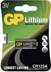 GP baterija CR123A, 1 komad