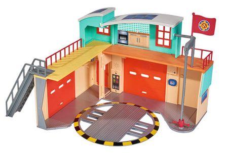 SIMBA Strażak Sam - Nowa stacja ratunkowa z figurką