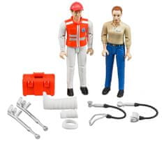 BRUDER A mentőautó figurakészlete kiegészítőkkel