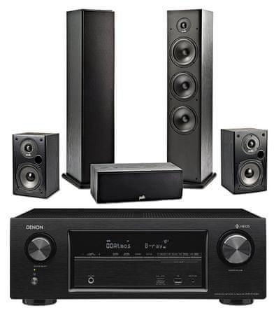 Denon AVR-X1400H + Polk Audio T50 + T30 + T15