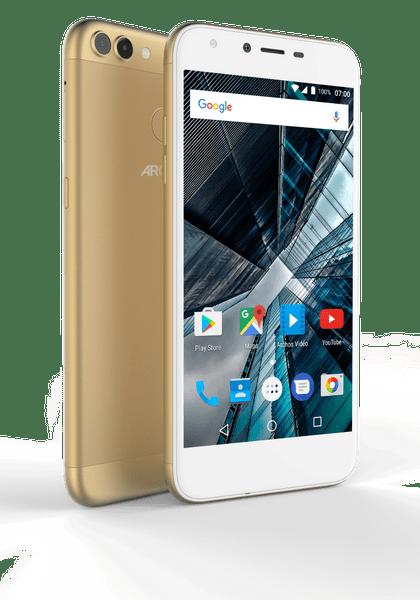 Archos Sense 55DC, 16 GB ROM, 2 GB RAM, zlatý