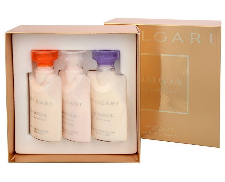 Bvlgari Set Omnia Amethyste - 40 ml + Omnia Indian Garnet - 40 ml + Omnia Crystalline L`Eau De Parfum - 40 m
