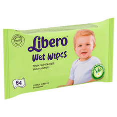 Libero Wet wipes Nedves törlőkendő, 64 db
