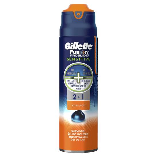 Gillette Fusion ProGlide gél Sensitive Active Sport 170 ml