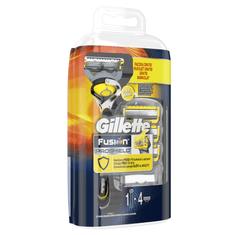 Gillette Fusion ProShield Pánský holicí strojek s technologií FlexBall + holicí hlavice 4 ks