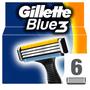 1 - Gillette Blue3 Náhradní hlavice k pánskému holicímu strojku 6 ks