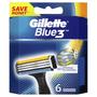 2 - Gillette Blue3 Náhradní hlavice k pánskému holicímu strojku 6 ks