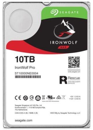 Seagate trdi disk NAS IronWolf PRO 10 TB, Sata 3, 6 Gb/s, 7200 (ST10000NE0004)