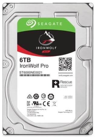 Seagate trdi disk NAS IronWolf Pro 6 TB, Sata 3, 7200, 256 MB