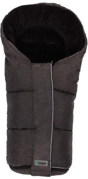 CuddleCo Zimní fusak Polar, černá/mat