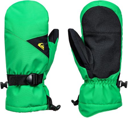Quiksilver otroške palčne rokavice Mission Youth, črno-zelene, M