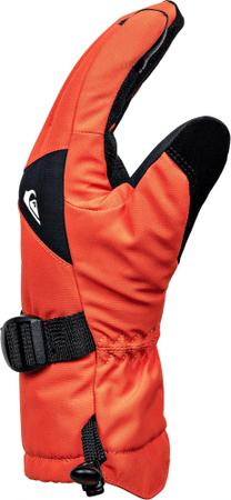 Quiksilver otroške rokavice Mission Youth, črno-oranžne, S