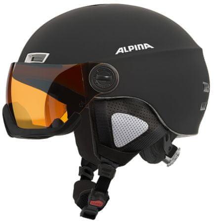 Alpina smučarska čelada Menga JV HM, mat črna, 55-59 cm