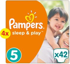 Pampers Sleep&Play Economy 5 Junior - 168 ks