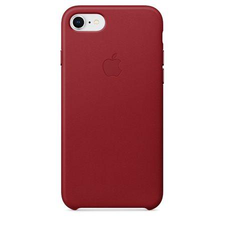 Apple Kožený kryt, Apple iPhone 8/7, MQHA2ZM/A, red - rozbaleno