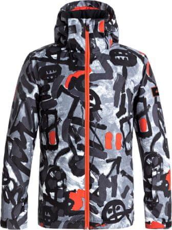 Quiksilver otroška smučarska jakna Mission, bela z vzorcem Arkaid, XXL