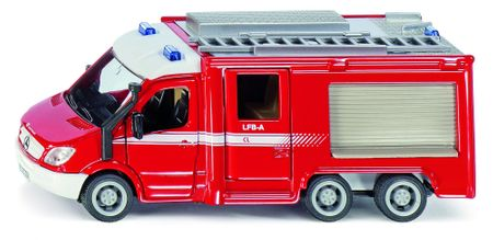 SIKU Super - Wóz strażacki Mercedes Sprinter 6x6, skala 1:50