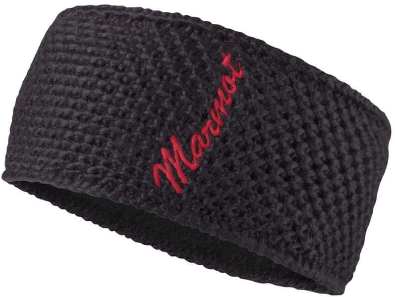 Marmot Theo Headband Black/Bright Ruby