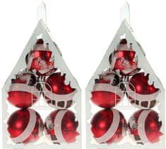 EverGreen Ručně zdobené koule PetHouse 10 ks, červená