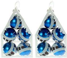EverGreen ročno okrašene kroglice PetHouse, modre, 10 kosov