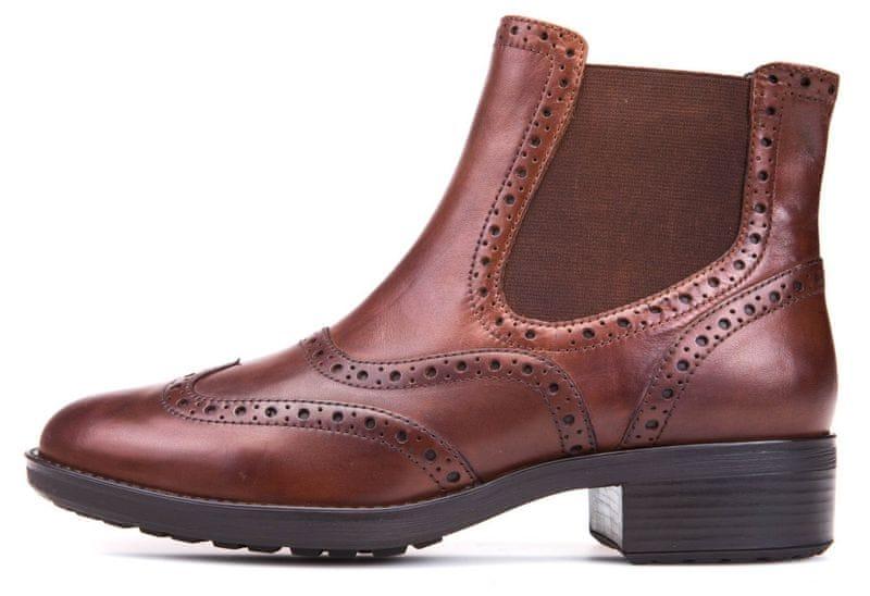 Geox dámská kotníčková obuv Ettiene 41 hnědá