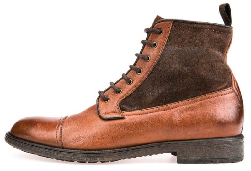 Geox pánská kotníčková obuv Jaylon 45 hnědá