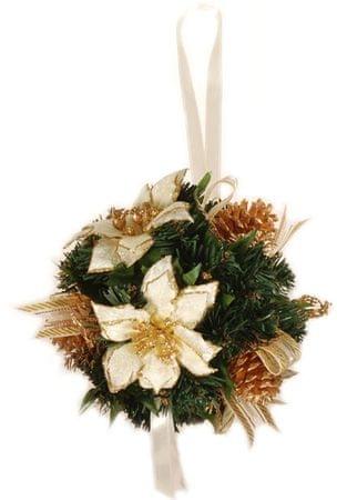 EverGreen Vánoční koule 20 cm, bílá