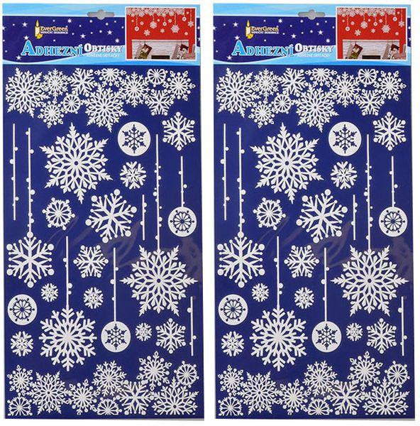 EverGreen Vánoční samolepky na zeď - sněhové vločky