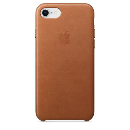 Apple usnjeni ovitek iPhone 8/7 Leather Case - Saddle Brown