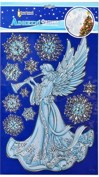 EverGreen Vánoční samolepky na zeď - anděl