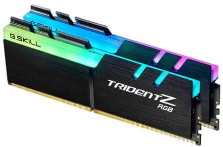 G.Skill pomnilnik Trident Z RGB DDR4, 32 GB Kit (2x 16GB), PC4-28800, 3600MHz, CL17 1,35 V