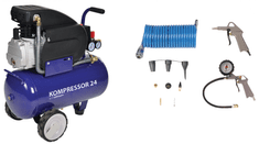 REM POWER kompresor Blue 24 L + pnevmatski set 4S