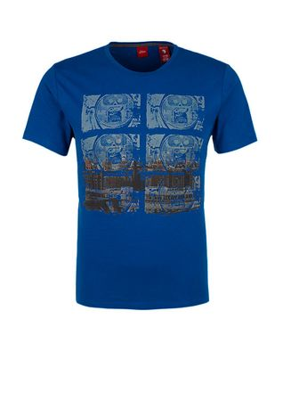 s.Oliver T-shirt męski  L niebieski