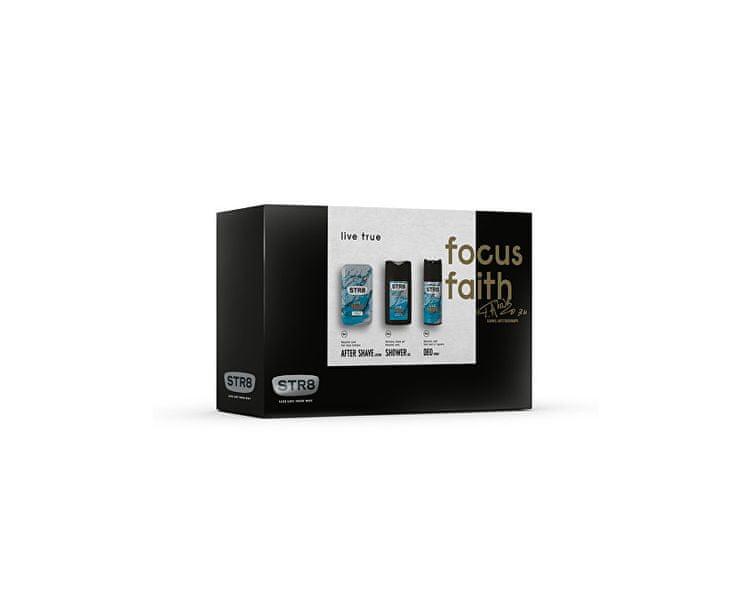 STR8 Live True - voda po holení 50 ml + deodorant ve spreji 150 ml + sprchový gel 250 ml