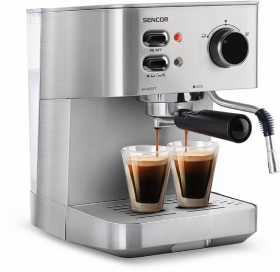SENCOR pákový kávovar SES 4010SS - použité