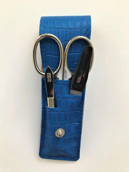 DuKaS Cestovní manikúrová sada 3 dílná modrá PL 891