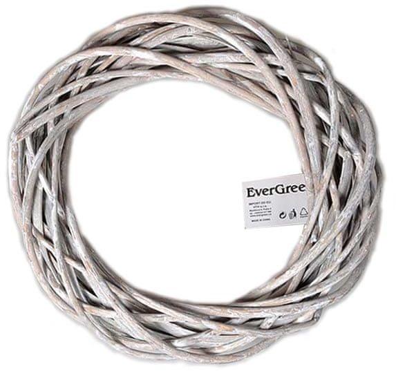 EverGreen Věnec proutěný 30 cm, béžová