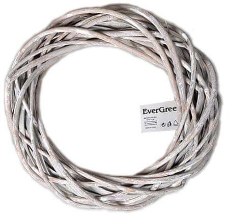 EverGreen wiklinowy wieniec, 30 cm, beżowy