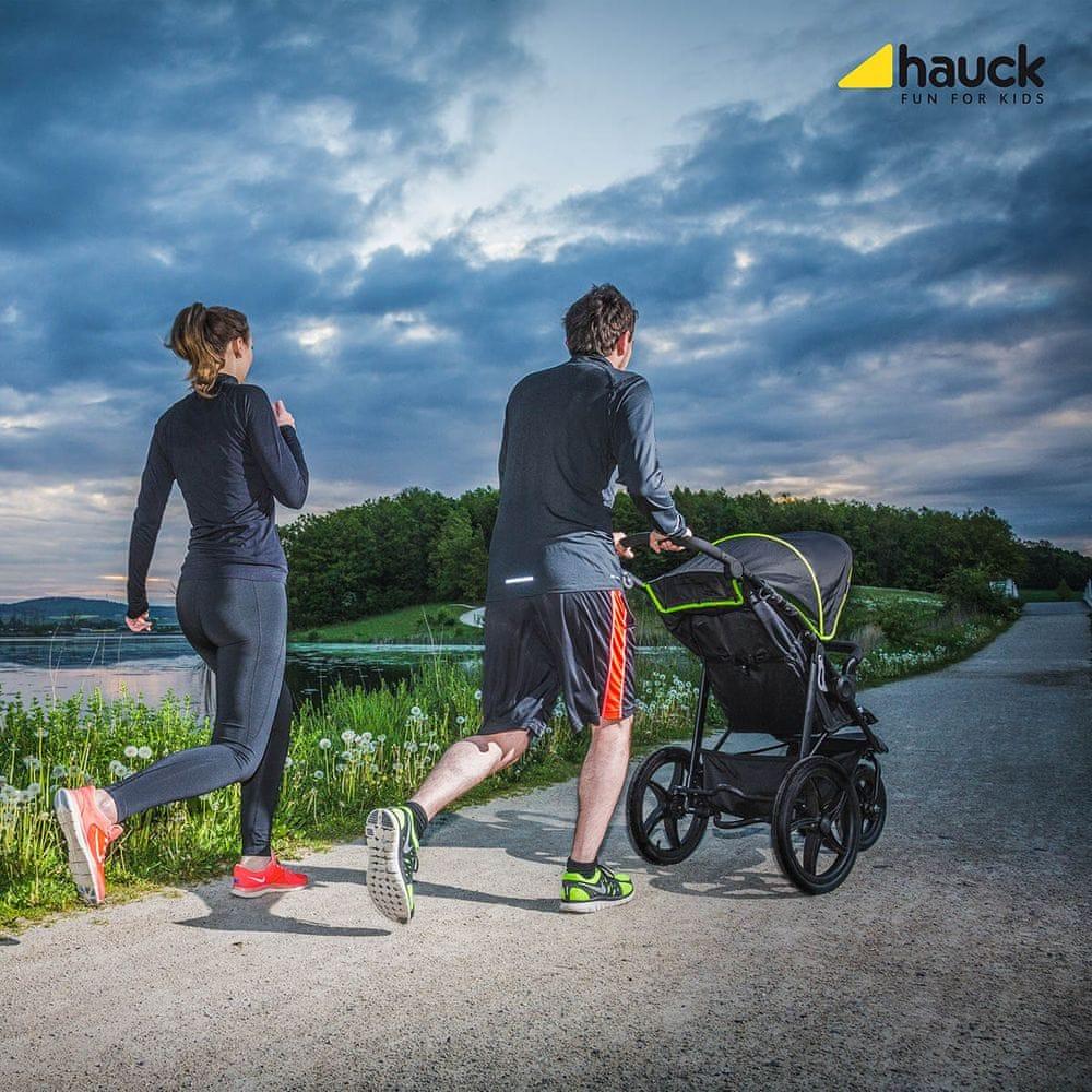 Hauck Runner 2020 kočárek black neon yellow