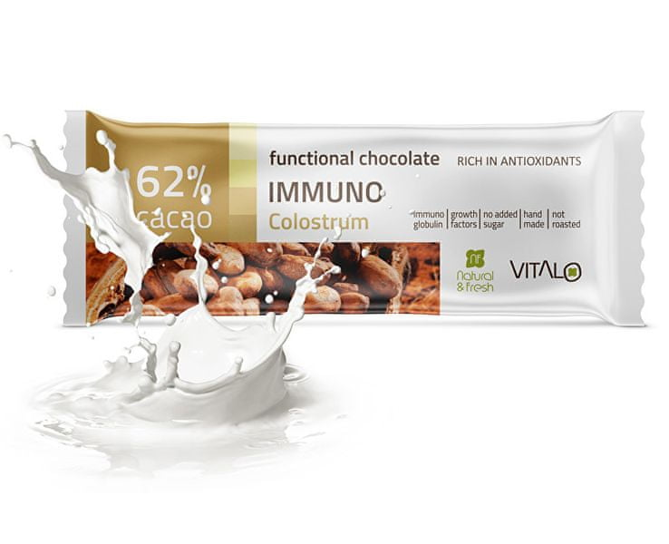 Vitalo Funkční čokoláda Immuno - Colostrum 25g