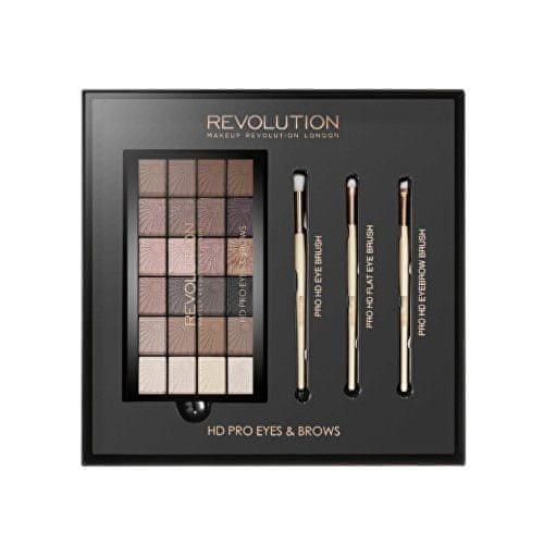 Makeup Revolution Luxusní dárková sada na líčení očí (HD Pro Eyes & Brows)
