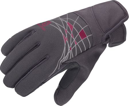 Salomon Rs Warm Glove W Black/Fluo Coral L