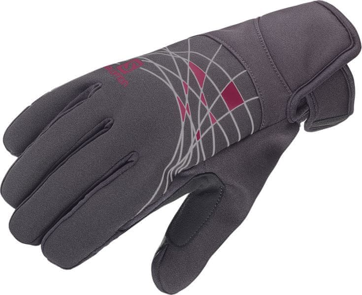 Salomon Rs Warm Glove W Black/Fluo Coral S