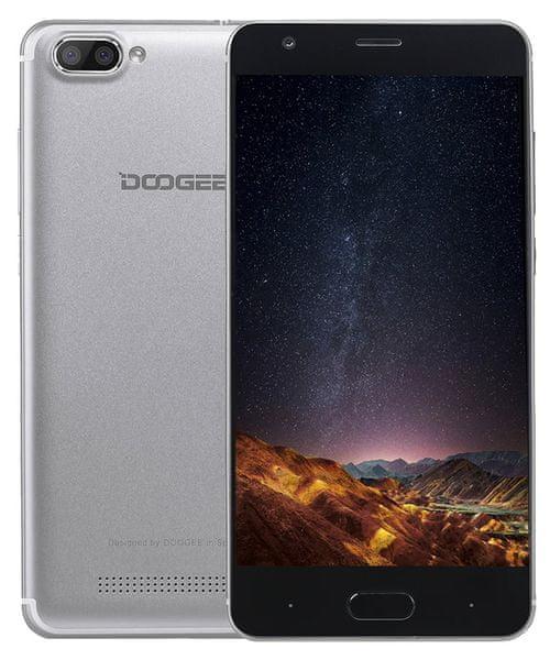 Doogee X20 1GB/16GB, Dual SIM, stříbrný