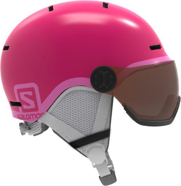 Salomon Grom Visor Glossy Pink Ks 49-53