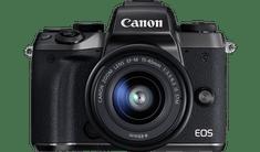 Canon fotoaparat EOS M5 z objektivom M15-45IS STM, črn