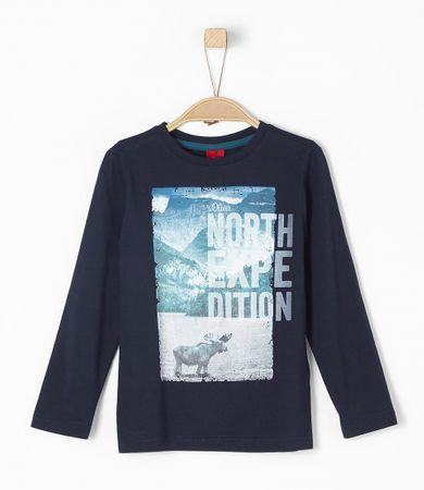 s.Oliver chlapecké tričko 104/110 tmavo sivá